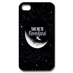 LSQDIY(R) take me to Neverland iPhone 4,4G,4S Personalized Case, Customised iPhone 4,4G,4S Case take me to Neverland