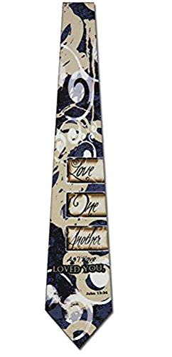 Love One Another Religious Ties Inspirational Mens Necktie
