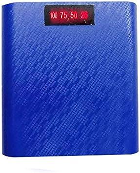 Power Bank Batería Caja Cargador del teléfono Estuche 4 Secciones Digital 2.5A Cargador rápido Pantalla Digital: Amazon.es: Electrónica