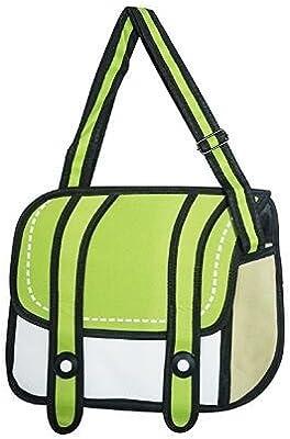 Genius Baby 3d Style 2d Drawing Cartoon Bag Comic 3d Messenger Bag Green Amazon Com Au Sports Fitness Outdoors