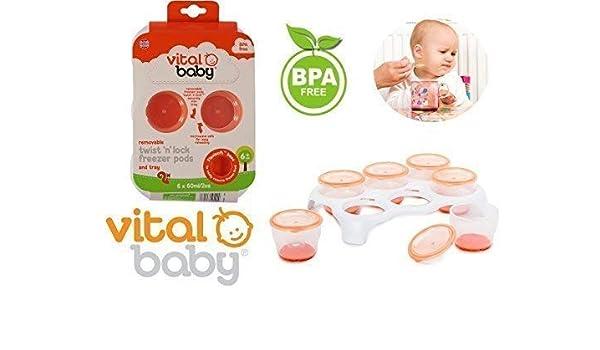Bebé Comida Ollas extraíble Torsión y Traba congelador para ...
