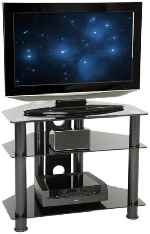 Peerless - Mesa auxiliar para TV (cristal de 650 mm, vidrio oscuro ...