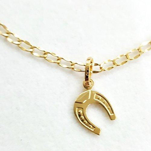 Bracelet Homme Femme Or 18 Ct 750 Pendentif et Or 18 Ct Gr.1,80 Fer à Cheval