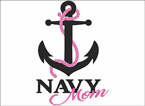 Navy Wife, Daughter, Mom or Sister / BLACK / Vinyl Vehicle Military Family Support Graphic Decal Sticker (Mom)