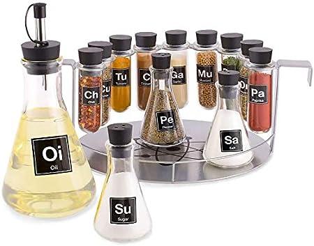 Wink Chemist's Spice Rack, 14 Piece Chemistry Spice Rack Set