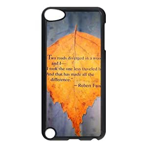 Special Designer Robert Frost Quote It Goes On Ipod Touch 5th Case, Snap on Protective Robert Frost Ipod 5 Case by runtopwell