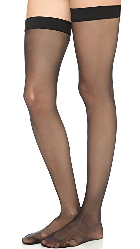 (Wolford Women's Individual 10 Stay Up Tights, Black, Small)