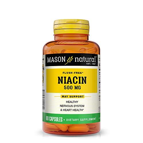 Mason Vitamins Niacin 500 mg flush free A Vitamin (B-3) Inositol hexanicotinate 60-Count Bottles (Pack of 3)