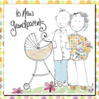 New Grandparents Handmade Congratulations Card Amazon Co Uk