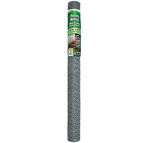 YARDGARD 308405B 3 Foot X 25 Foot 1 Inch Mesh Poultry (Chicken Fence Black)