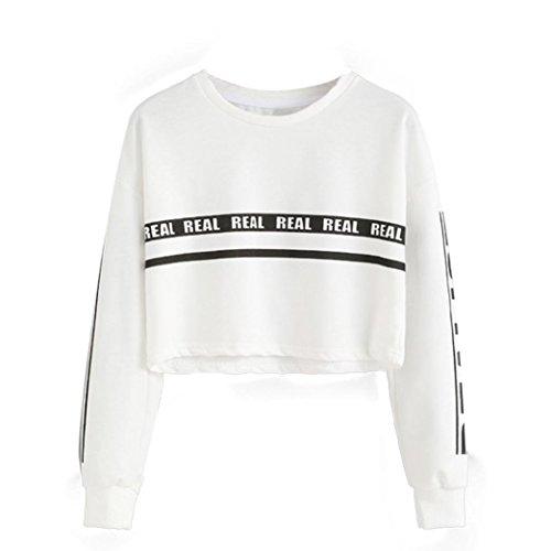 buona vendita prodotto caldo imballaggio forte UOMOGO Felpe Sportive con Cappuccio Donna Ragazza Maglie Manica Lunga Felpa  Strisce Pullover Tumblr Autunno Inverno Elegante Sweatshirt Oversize T ...