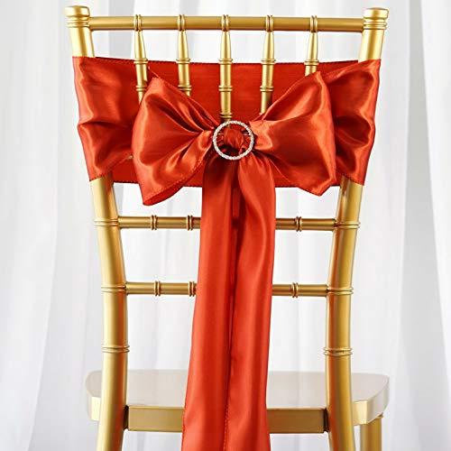 Mikash 50 pcs New Satin Chair Sash Bows Ties Wedding Decorations Cheap | Model WDDNGDCRTN - 10361 |