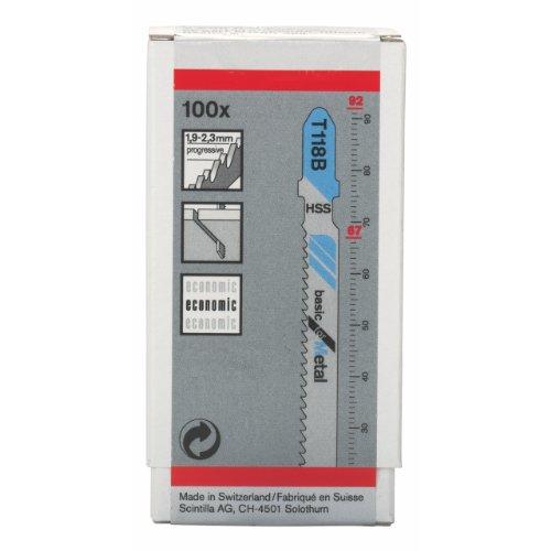 """Bosch 2608631965 Jigsaw Blade""""T118B"""" 100 Pcs"""
