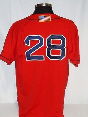 Doug Mirabelli Boston Red Sox Authentic 2004 World Series Jersey with Flag Patch 2004 World Series Patch