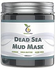 Dode Zee Gezichtsmasker 250g, veganistisch, met modder uit de Dode Zee - werkt tegen puistjes, mee-eters en acne - anti-aging verzorging voor een droge en onzuivere huid - moddermasker voor gezicht en lichaam