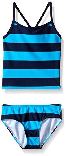 Girls Clothing New 2 Piece - Kanu Surf Toddler Girls' Alexa Beach Sport 2-Piece Banded Tankini Swimsuit, Layla Navy/Aqua Stripe, 2T