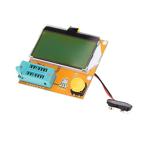 Transistor Tester, KKmoon Multi-Functional LCD Backlight Transistor Tester Diode Triode Capacitance ESR Meter MOS PNP NPN ()