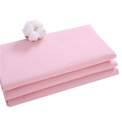 Pure color 100% cotton bed sheet,Coarse cloth bed sheets Simple Comfortable Hypoallergenic Student Children Queen sheets Twin Bed sheets set-pink 150x230cm(59x91inch)