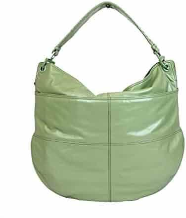 359dd2e466c5 Bottega Veneta Women s Green Leather Hobo Woven Detail Bag 309343 3414