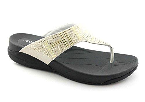 Grünland FLIT CI1176 zapatillas de color beige flip flop dama espárragos Beige