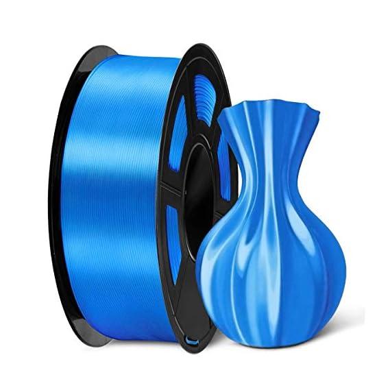 SUNLU Silk PLA Filament 1.75mm, 3D Printer Filament Silk, Silky Shiny Filament PLA for 3D Printers and Pens, 1kg(2.2Lbs