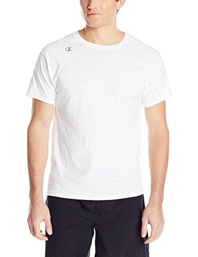 Champion Men's Vapor Cotton Short Sleeve Tee, White, Medium