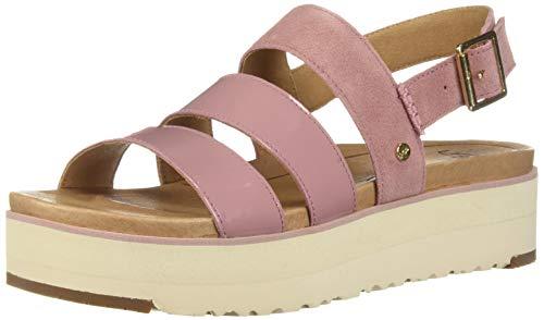 UGG Women's Braelynn Flat Sandal, Pink Dawn, 7.5 M US