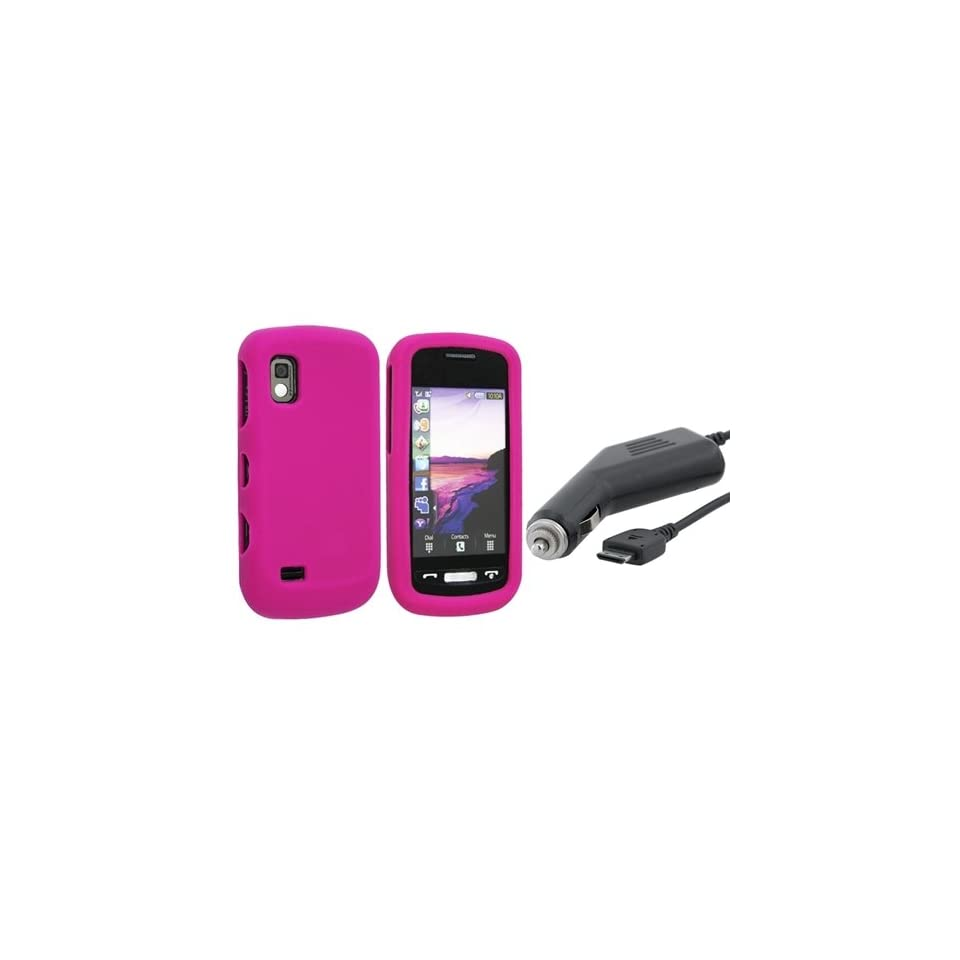 HOT PINK Silicone Skin Case for Samsung Solstice A887