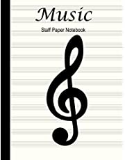Music Staff Paper Notebook: Blank Manuscript Book With 12 Staves Per Page! Gift For Musicians, Composers, Songwriters, Students and Music Lovers