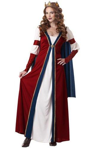 California Costumes Renaissance Queen, Red/Blue, Medium Costume (Queen Costumes For Adults)
