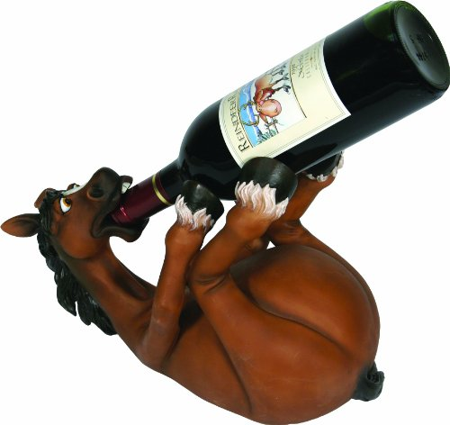 River's Edge Products Hand Painted Horse Wine Bottle Holder