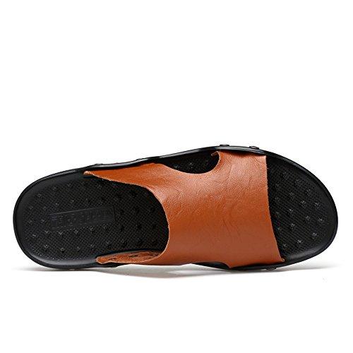 Sandali Scarpe da Grandi da Spiaggia Cricket di Marrone Uomo da Dimensioni e Pantofole Morbidi Traspiranti qwPRnYEq