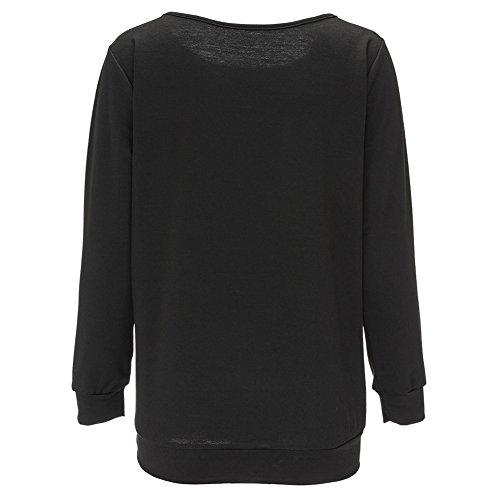 La Cabina Femme Sexy Tops Hoodie Sweatshirt Pullover Imprimé Lettres Style Noël pour Automne Hiver
