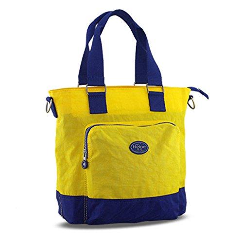 Bebé Bolsa de Pañales multifunción Puzzle Ocio Moda mamá bolso de mano, bolso bandolera y bolsa de cruz verde verde amarillo
