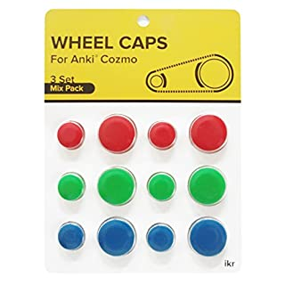 Cozmo Collector's Edition Wheel Caps Accessories, Add Vibrant Color and Character to your Robot, Race Pack: Black, Silver, White by IKR Compatible with Anki Cozmo