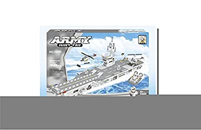 Navy Aircraft Carrier Army Guard War 1933pc Includes Helicopters And An Army Chases Boat And Much More.. Ausini Educational Building Blocks Set – Best Gift for Boys and Girls