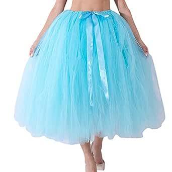 CANDLLY Las Rebajas Boda Faldas de Tul para Mujeres, Faldas Lisas ...