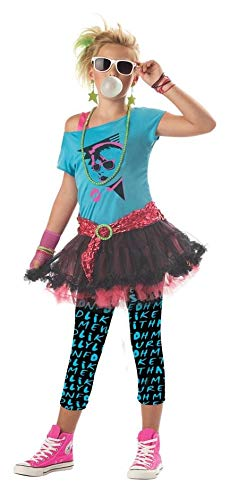 80's Valley Girl Tween Costume - Large