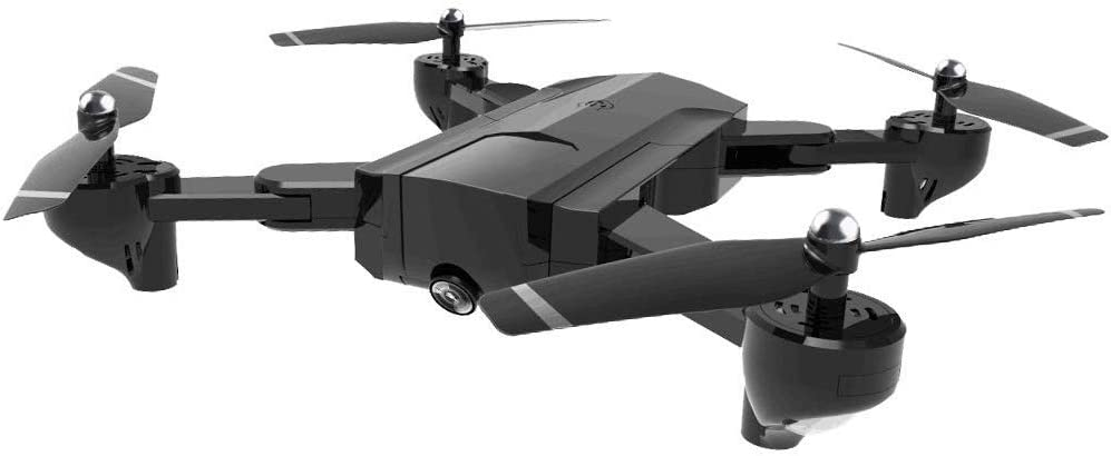 折りたたみ式ドローン、SG900オプティカルフロードFPV Wifi RCクワッドコプター、ダブルHd 720Pカメラ付き4CH 6軸ジャイロ画像により、ジェスチャ写真/ビデオセルフィードローン、ブラック