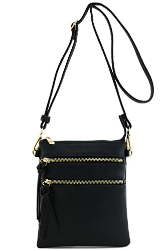Functional Multi Pocket Crossbody Bag (BLACK)