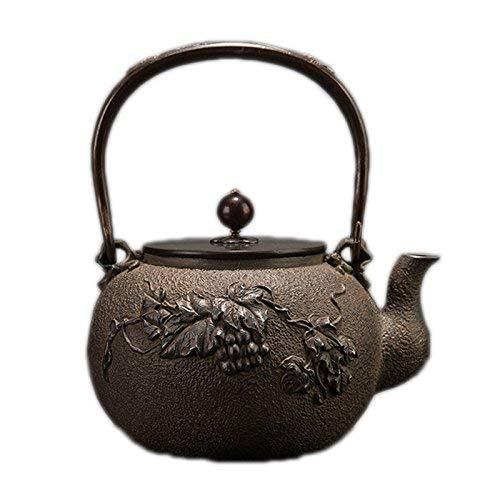 SCJS Old Iron Pot Cast Iron Teapot Kettle Teapot (Color : A ...