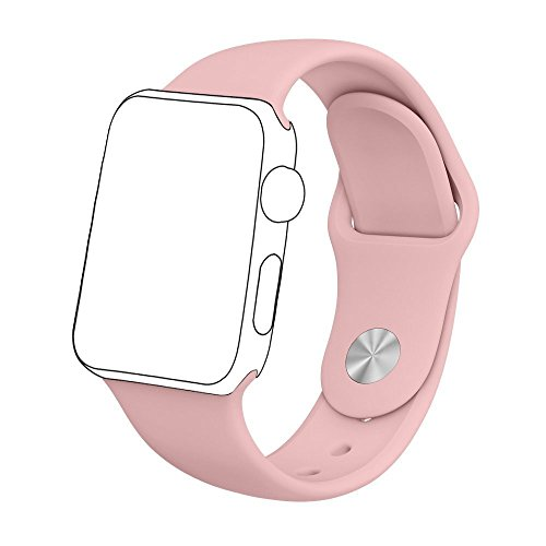 Zyra Sport Band for Apple Watch 38mm M/L, Soft Silicone Strap Replacement iWatch Bands for Apple Watch Sport, Series 2, Series 1