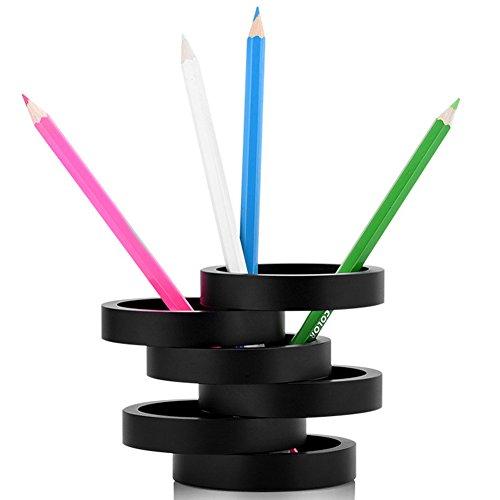 Etbotu Desk Organizer Portable Multi-function Pen Storage Holder Metal Canister Creative