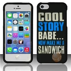 Rubberized Design Cover compatible with Apple iPhone 5c, Cool Story Babe