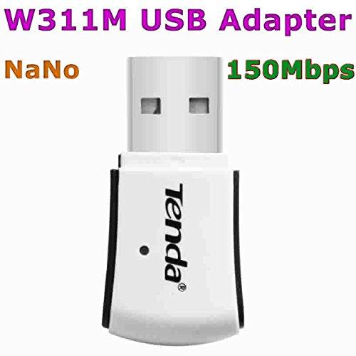 Tenda W311M - Adaptador de red USB (150 Mbps, WiFi, receptor ...