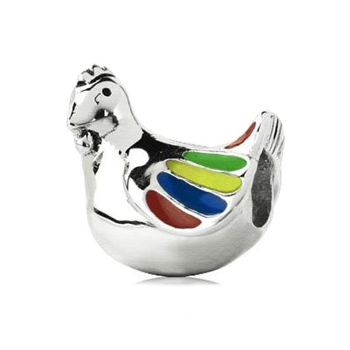 sterling silver charms chicken - 2