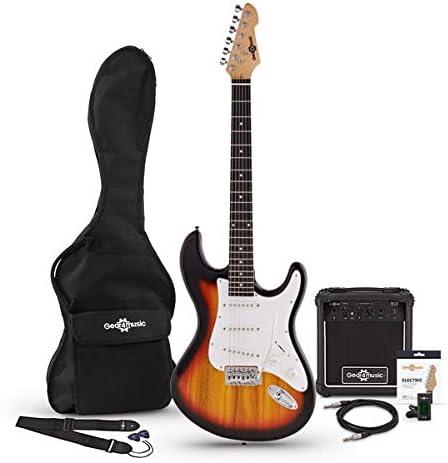 Guitarra Electrica LA Sunburst + Amplificador: Amazon.es: Instrumentos musicales