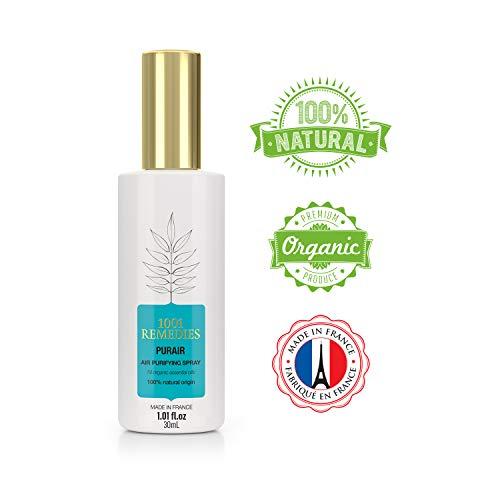 1001 Remedies Room Spray with 100% Organic Essential Oils- Home Lavender Spray & Pillow Spray- Purifying Air Freshener, Odor Eliminator Spray, Sleep Spray 1.05 fl.oz
