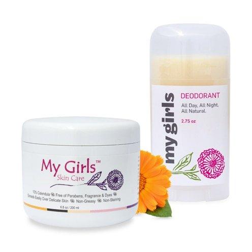 6.8 Oz My Girls Skin Care Radiation Burn Care Calendula Cream Plus Aluminum-free Calendula Natural Deodorant