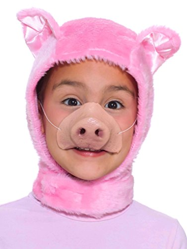 Forum Novelties Child Size Animal Costume  Pink Piglet Hood and Nose Mask